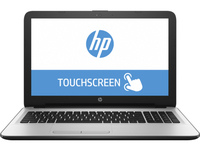 "HP 15-ba021ca 2GHz A6-7310 15.6"" 1366 x 768Pixel Touch screen Argento, Bianco Computer portatile"