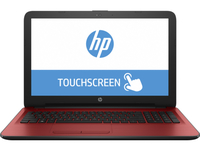 "HP 15-ba023ca 2GHz A6-7310 15.6"" 1366 x 768Pixel Touch screen Rosso Computer portatile"