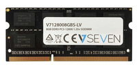 V7 8GB DDR3 PC3-12800 - 1600mhz SO DIMM Notebook Módulo de memoria - V7128008GBS-LV