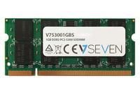 V7 1GB DDR2 PC2-5300 667Mhz SO DIMM Notebook Módulo de memoria - V753001GBS