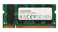 V7 4GB DDR2 PC2-6400 800Mhz SO DIMM Notebook Módulo de memoria - V764004GBS
