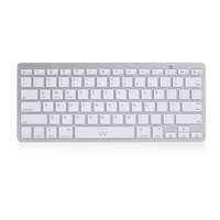 Ewent EW3163 Bluetooth QWERTY US International Argento, Bianco tastiera