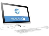 "HP 22-b017la 2GHz A6-7310 21.5"" 1920 x 1080Pixel Touch screen Nero, Bianco PC All-in-one"