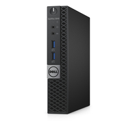 DELL OptiPlex 3040 MFF + Microsoft Office Home & Business 2016 3.2GHz i3-6100T PC di dimensione 1,2L Nero Mini PC