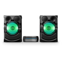 Sony SHAKE-X7D Home audio mini system 2400W Nero, Verde set audio da casa