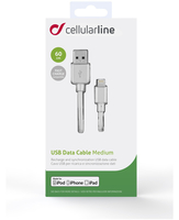 Cellularline USB DATA CABLE MEDIUM - Lightning Cavo USB da 60cm Bianco