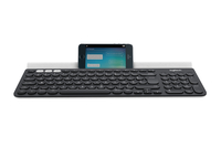 Logitech K780 RF Wireless + Bluetooth AZERTY Belga Nero, Bianco tastiera