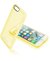 Cellularline Clear Color - iPhone 7 Cover rigida super colorata e cornice morbida Giallo