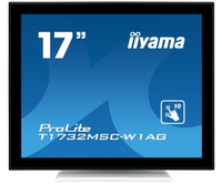 "iiyama ProLite T1732MSC-W1AG 17"" 1280 x 1024Pixel Multi-touch Nero, Bianco monitor touch screen"
