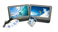 "Salora DVP9948DUO+GC DUO ACCU USB SD ACC Portable DVD player Da tavolo 9"" 800 x 480Pixel Grigio"