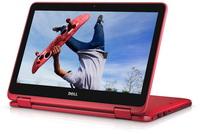"DELL Inspiron 11 1.6GHz N3710 11.6"" 1366 x 768Pixel Touch screen Nero, Rosso Ibrido (2 in 1)"