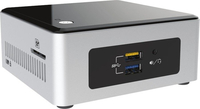 Intel NUC NUC5PGYH 1.6GHz N3700 Nero, Argento Mini PC
