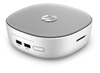 HP Pavilion 300-253kr 2.2GHz i5-5200U PC di dimensione 1L Nero, Bianco Mini PC