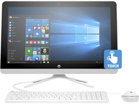 "HP 24-g020t 1.6GHz J3710 23.8"" 1920 x 1080Pixel Touch screen Bianco PC All-in-one"