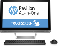 "HP Pavilion 24-b050se 2.8GHz i7-6700T 23.8"" 1920 x 1080Pixel Touch screen Nero, Argento PC All-in-one"