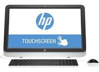 "HP 22-b016la 2GHz A6-7310 21.5"" 1920 x 1080Pixel Touch screen Nero, Bianco PC All-in-one"