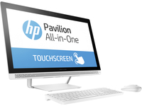 "HP Pavilion 24-b013la 2.9GHz A9-9410 23.8"" 1920 x 1080Pixel Touch screen Bianco PC All-in-one"
