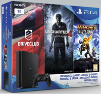 Sony PlayStation 4, 3 Games 1000GB Wi-Fi Nero