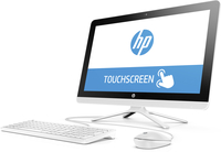 "HP 22-b016ns 1.6GHz J3710 21.5"" 1920 x 1080Pixel Touch screen Nero, Bianco PC All-in-one"
