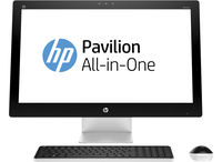 "HP Pavilion 27-n241ur 3.2GHz i3-6100T 27"" 1920 x 1080Pixel Nero, Bianco PC All-in-one"