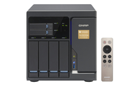 QNAP TVS-682T-I3-8G + 4x ST10000VN0004 NAS Torre Collegamento ethernet LAN Nero