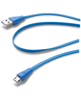 Cellularline USB Data Cable Color - Micro USB Cavo dati colorato e in materiale antigroviglio Blu