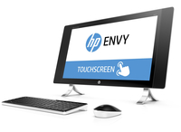 "HP ENVY 24-n001ur 2.8GHz i7-6700T 23.8"" 2560 x 1440Pixel Touch screen Bianco PC All-in-one"