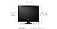 "Samsung 225UW 22"" monitor piatto per PC"