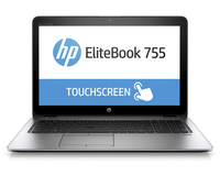 "HP EliteBook 755 G3 1.6GHz A8-8600P 15.6"" 1920 x 1080Pixel Touch screen Argento Computer portatile"