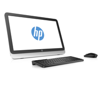 "HP 20-r104nf 1.4GHz E1-6015 19.45"" 1600 x 900Pixel Nero, Bianco PC All-in-one"