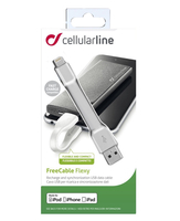 Cellularline FreeCable Flexy - Lightning Cavo USB corto per powerbank Bianco