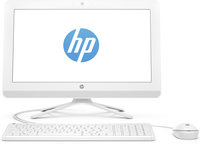 "HP 20-c010kr 1.6GHz J3060 19.45"" 1920 x 1080Pixel Bianco PC All-in-one"