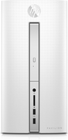 HP Pavilion 510-p100no 3.1GHz A8-9600 Scrivania Nero, Bianco PC