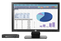 HP EliteDesk 800 65W G2 Mini + ProDisplay P202 + IWC f/Desktop Mini & Thin Client 2.5GHz i5-6500T Scrivania Nero Mini PC