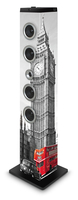 Bigben Interactive TW7LONDON3 Torre 40W Grigio, Rosso set audio da casa