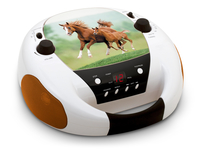Bigben Interactive CD52HORSE4 Analogico 2W Nero, Marrone, Bianco radio CD