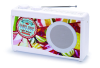 Bigben Interactive TR23CANDY Portatile Analogico Multicolore, Bianco radio