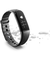 Cellularline Easy Fit HR - Universale Fitness Tracker touch screen con rilevamento del battito cardiaco Nero