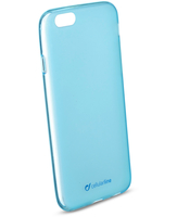 Cellularline Foggy - iPhone 6/6S Cover semitrasparente, morbida e colorata - Blu