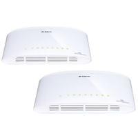 D-Link DGS-1008D x2 No gestito Gigabit Ethernet (10/100/1000) Bianco