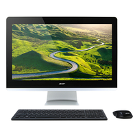 "Acer Aspire Z3-715 2.4GHz i5-7400T 23.8"" 1920 x 1080Pixel Touch screen Nero, Argento PC All-in-one"