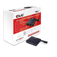 CLUB3D Mini Dock USB Type-C to Displayport1.2 + USB3.0 + USB Type C Charging