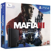 Sony PS4 1TB + Mafia III 1000GB Wi-Fi Nero
