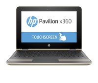 "HP Pavilion x360 11-u011nw 1.6GHz N3710 11.6"" 1366 x 768Pixel Touch screen Oro, Argento Ibrido (2 in 1)"