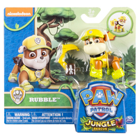 Paw Patrol Basic Vehicle Themed Jungle Rubble Multicolore Ragazzo/Ragazza