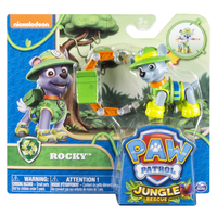 Paw Patrol Basic Vehicle Themed Jungle Rocky Multicolore Ragazzo/Ragazza
