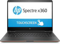 "HP Spectre x360 15-bl000na 2.70GHz i7-7500U 15.6"" 3840 x 2160Pixel Touch screen Nero, Rame Ibrido (2 in 1)"