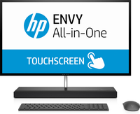 "HP ENVY 27-b135t 2.4GHz i5-7400T 27"" 2560 x 1440Pixel Touch screen Nero, Argento PC All-in-one"