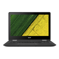 "Acer Spin SP513-51-38M1 2.40GHz i3-7100U 13.3"" 1920 x 1080Pixel Touch screen Nero Ibrido (2 in 1)"