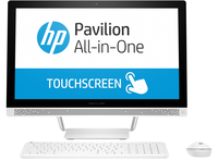 "HP Pavilion 24-b250no 2.4GHz i5-7400T 23.8"" 1920 x 1080Pixel Touch screen Bianco PC All-in-one"